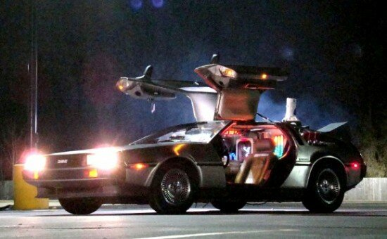 Delorean Time Machine from the Movie Back to the Future